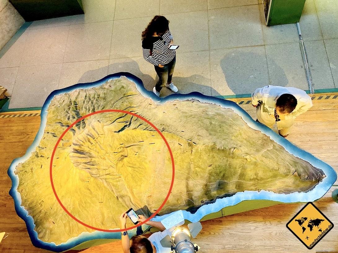 3D Modell La Palma im Besucherzentrum