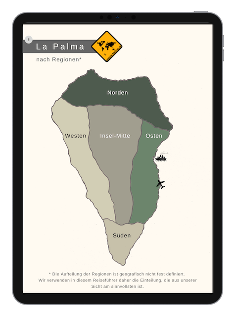 88 La Palma Highlights nach Regionen