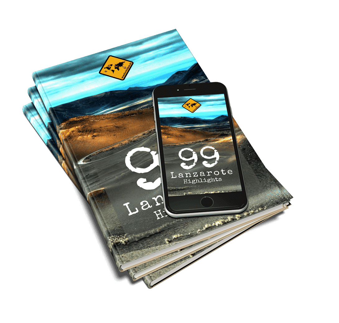 99 Lanzarote Highlights Mockup E-Book Buch iPhone Kanaren Reiseführer-Bundle