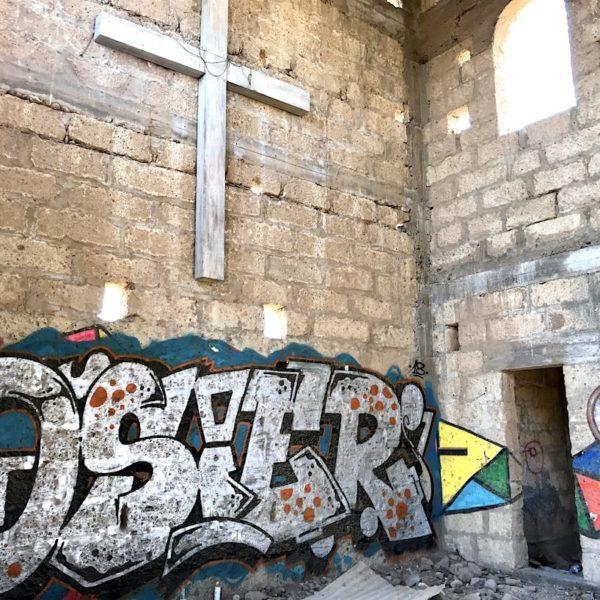 Abades Teneriffa Kirche Graffiti