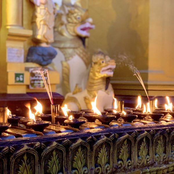 Abendstimmung Shwedagon Paya Yangon Myanmar