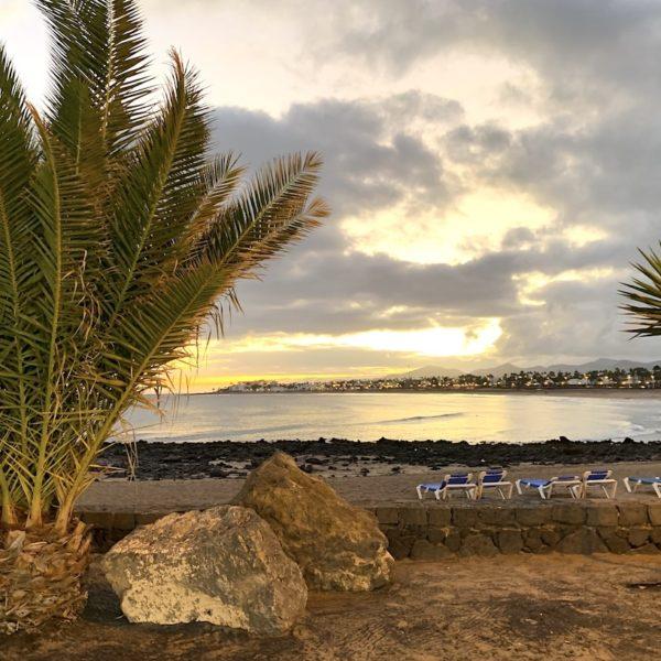 Abendstimmung Strand Puerto del Carmen Lanzarote