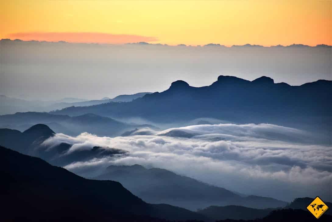 Adam's Peak Sri Lanka Sonnenaufgang
