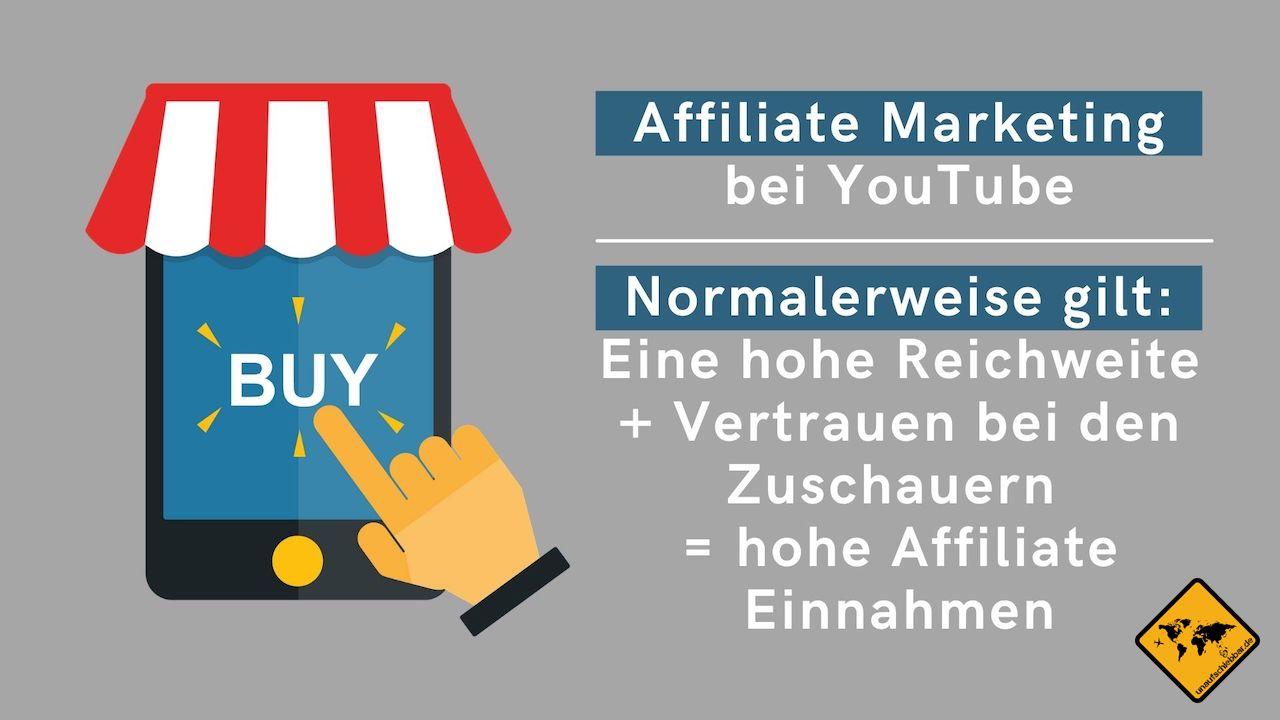 Affiliate Marketing YouTube Geld verdienen