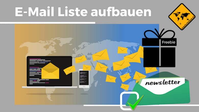 Eine E-Mail Liste aufbauen