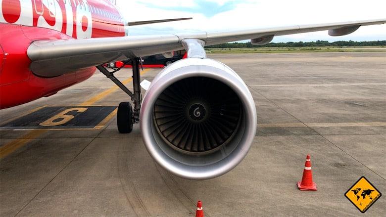 Air Asia Erfahrung - das Flugzeug