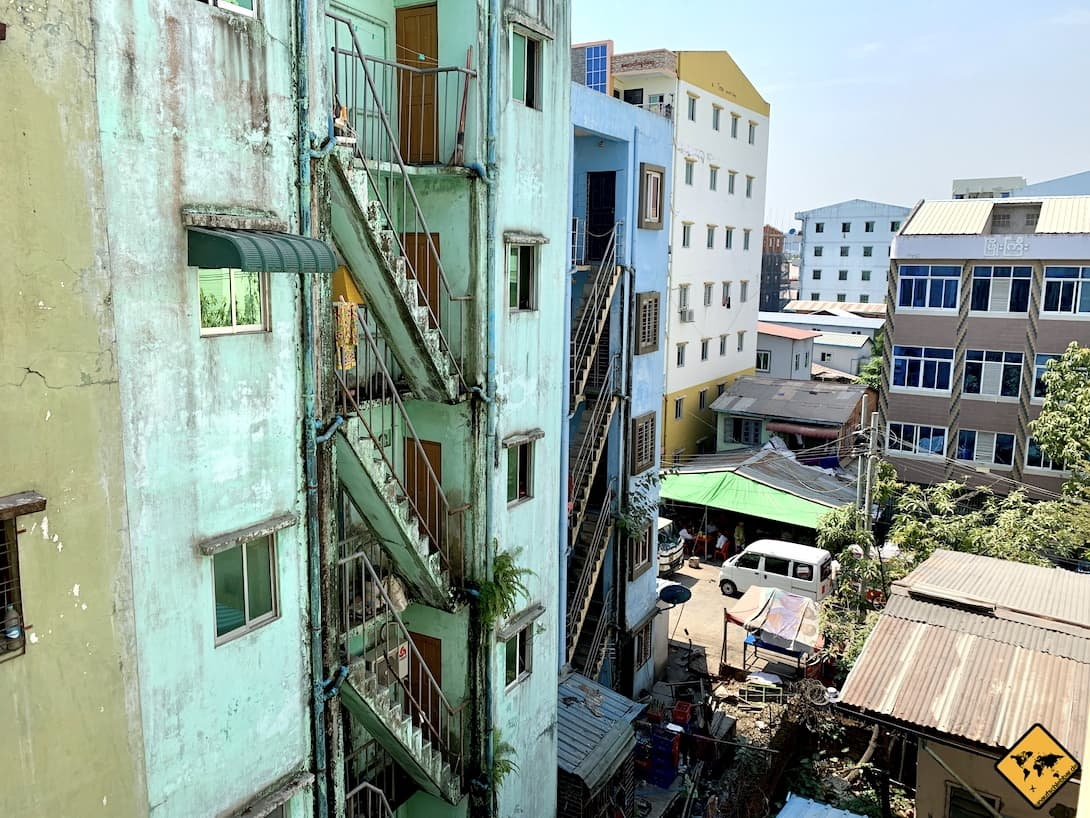 AirBnB Yangon Myanmar Nachbarschaft