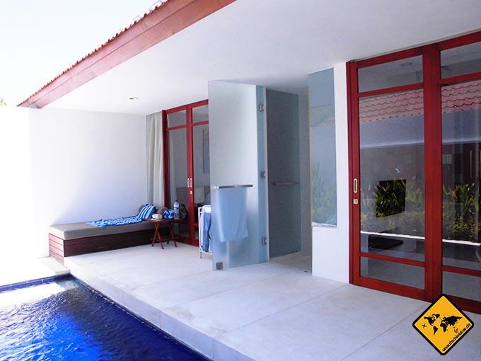 Airbnb Erfahrungen Bali Villa Style apartment Sanur Terasse