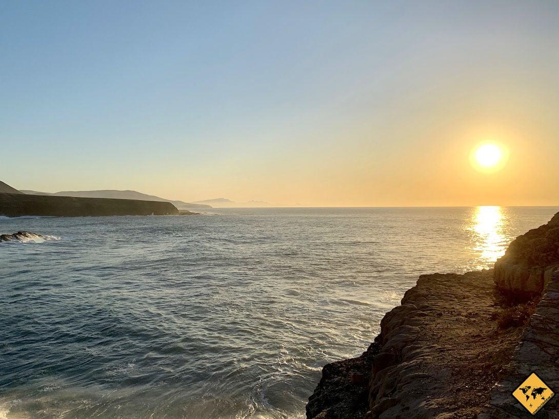 Ajuy Fuerteventura Sonnenuntergang