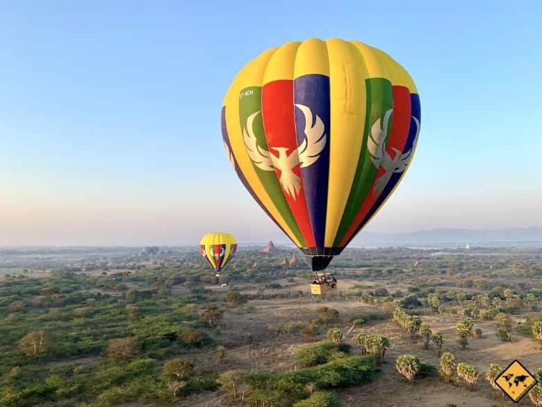 Aktivitäten in Bagan Ballonfahrt