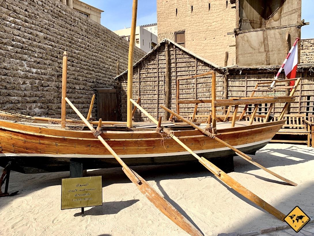 Altes Schiff Holz Dubai Museum