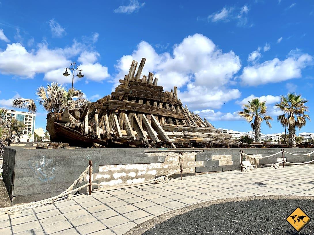 Altes Schiffswrack Lanzarote Arrecife