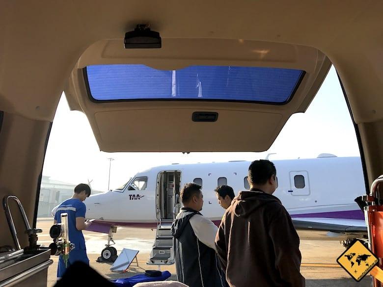 Ambulanz-Flugzeug Chiang Mai Airport