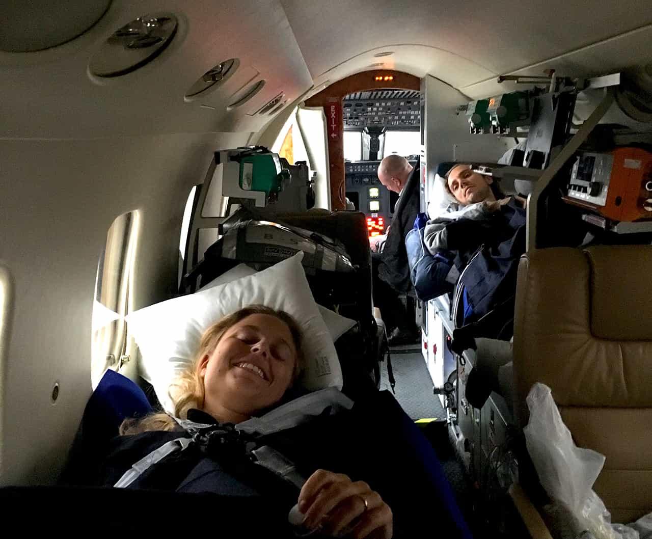 Ambulanzflugzeug Unfall unaufschiebbar