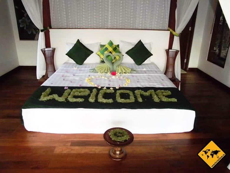Amed Bali Unterkünfte Bett