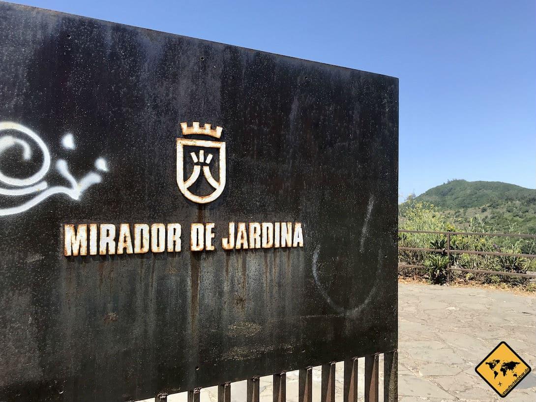 """Der """"Mirador de Jardina"""" ist der erste Aussichtspunkt im Anaga Gebirge Teneriffa, an dem du anhalten solltest"""