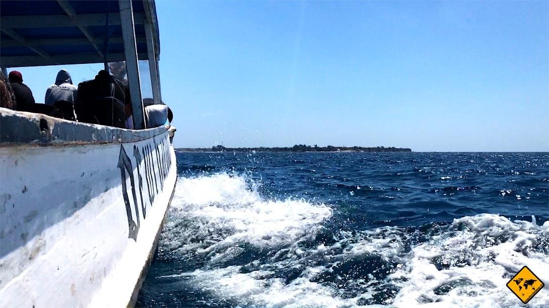 Anfahrt Gili Islands lokales Boot