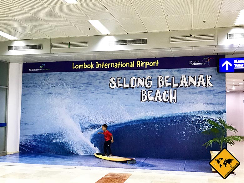 Ankunft Lombok Flughafen