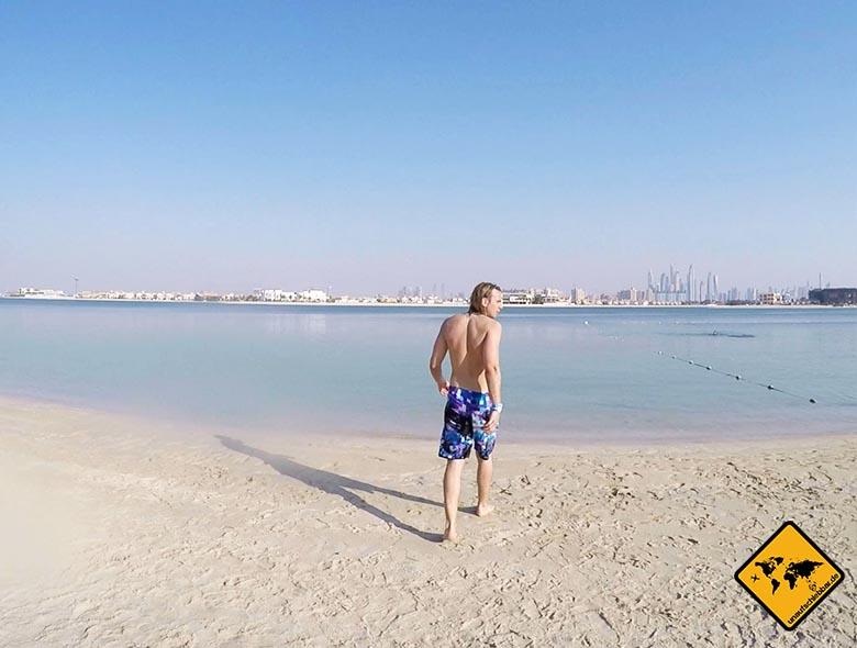 Am Strand im Aquaventure Dubai