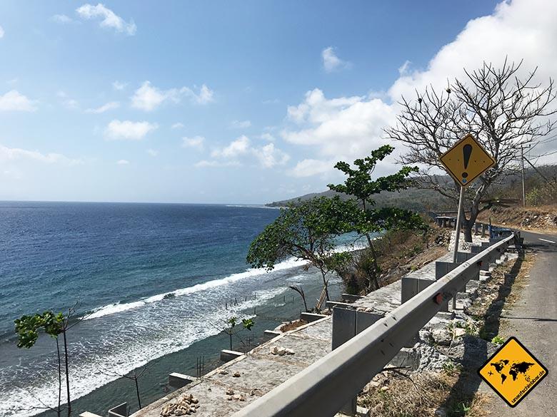 Atuh Beach Nusa Penida Küstenstraße Norden