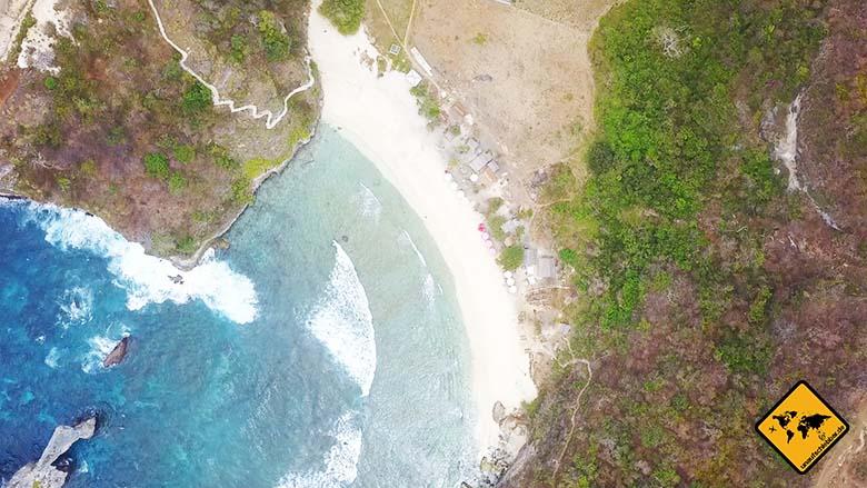 Atuh Beach Nusa Penida von oben
