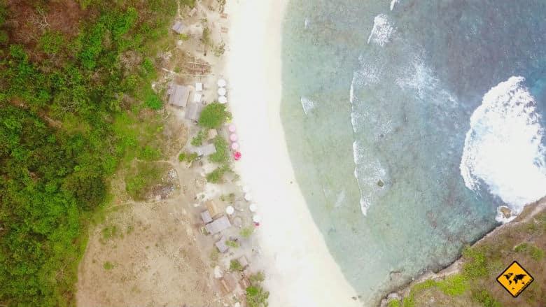 Atuh Beach Penida Vogelperspektive