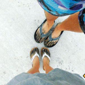 Auch dreckige Füße gehören mit zur Bali Rundreise