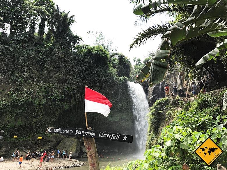 Aufstieg Blangsinga Waterfall
