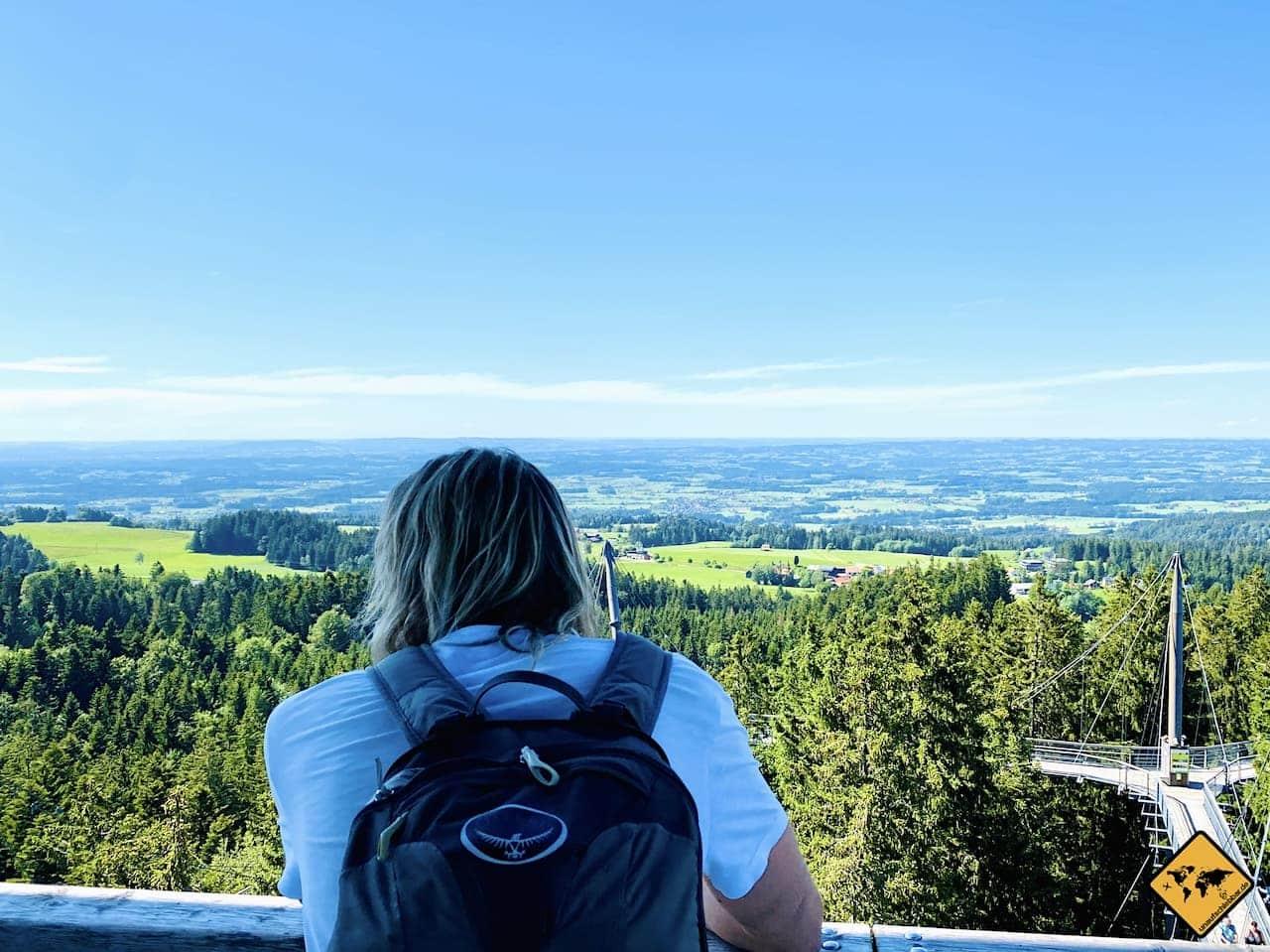 Ausblick Aussichtsturm Skywalk Allgäu