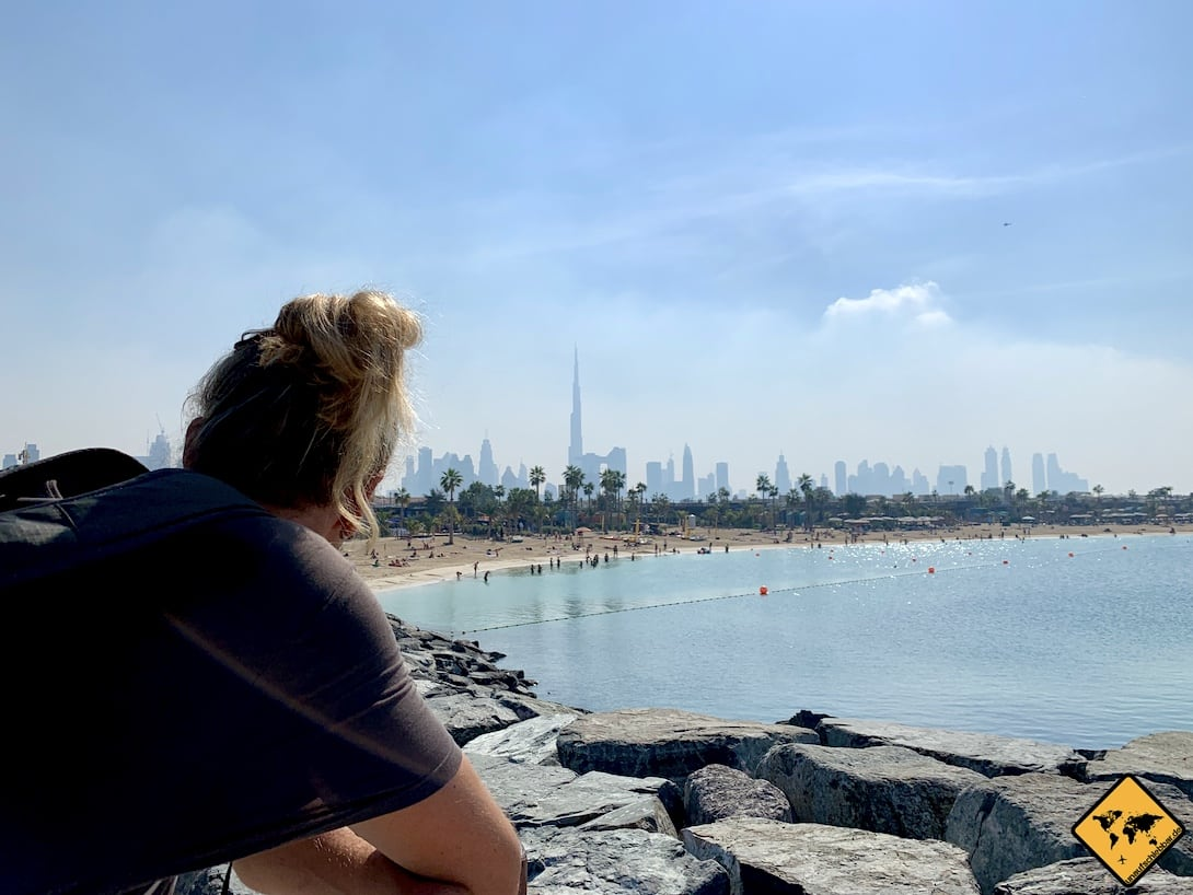 Ausblick Jumeirah Beach La Mer Dubai Skyline