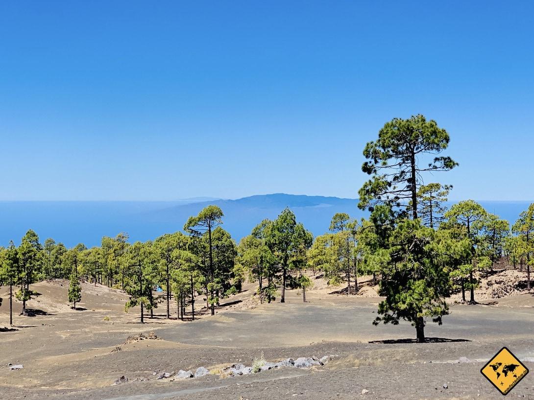Ausblick La Gomera Campingplatz auf Teneriffa