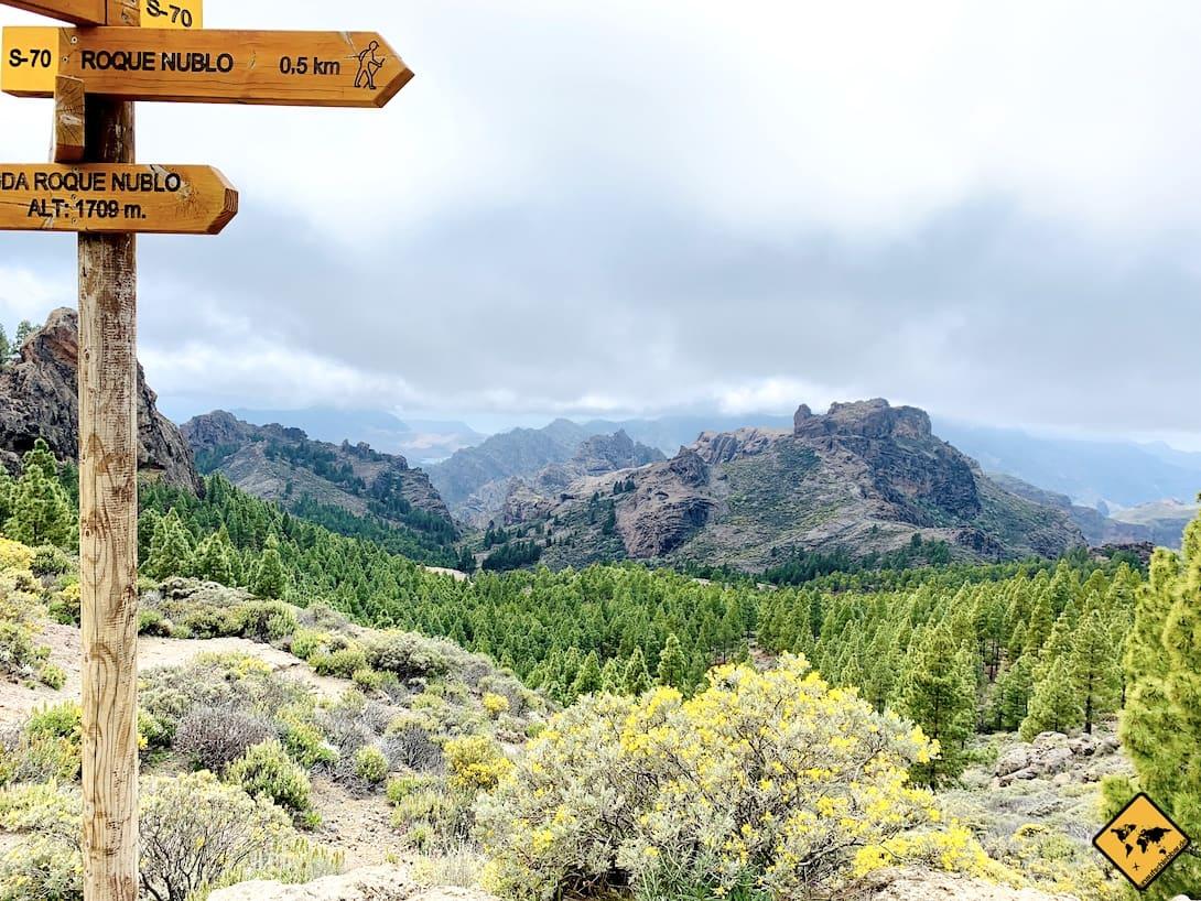 Ausblick Landschaft Roque Nublo Wanderung