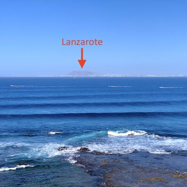 Ausblick Lanzarote Isla de Lobos