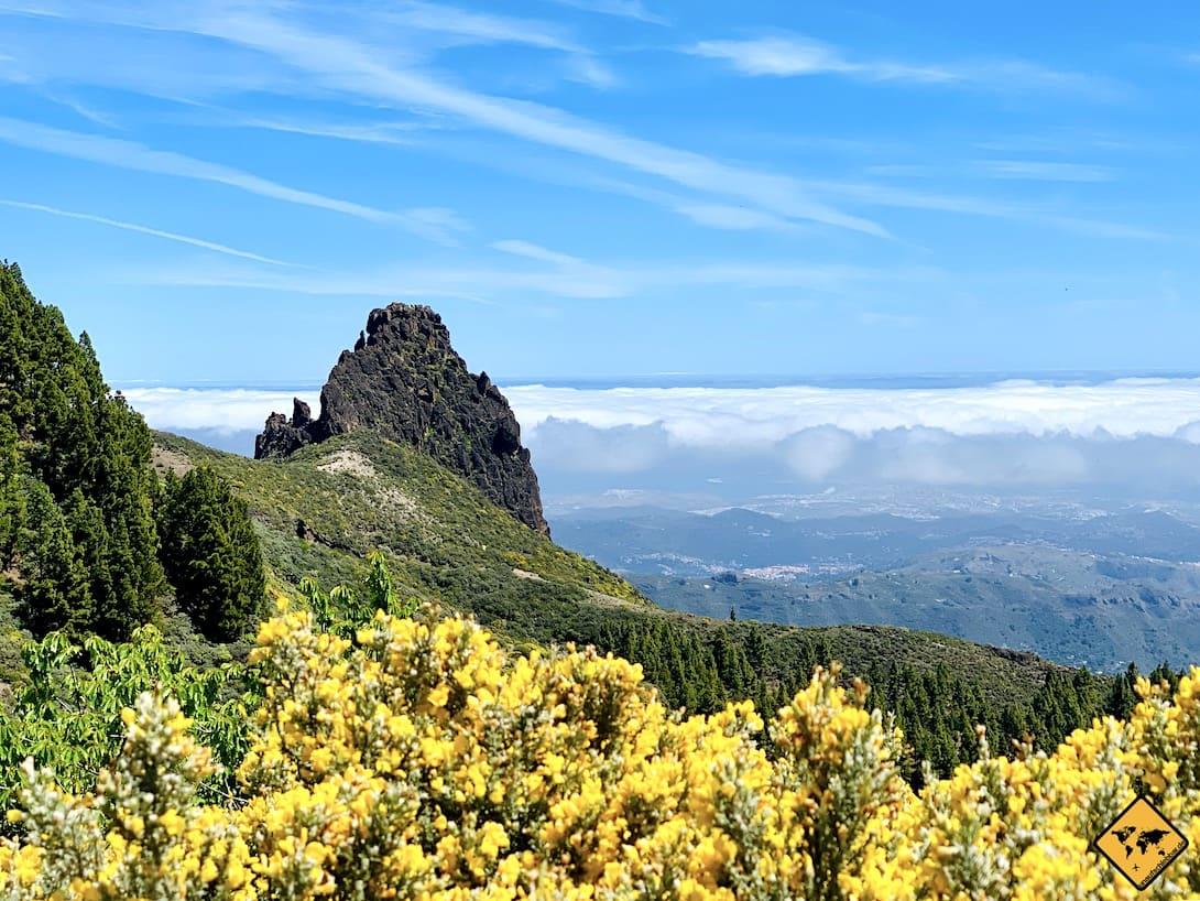 Ausblick Mirador Caldera Los Marteles Gran Canaria