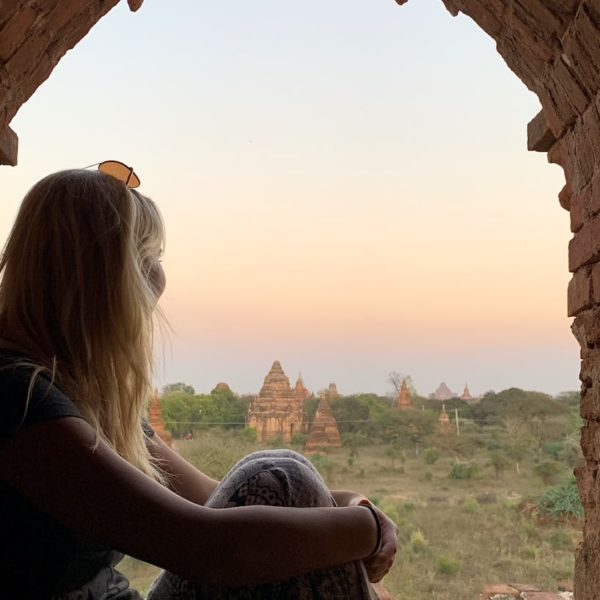 Ausblick Pagoden Bagan Myanmar
