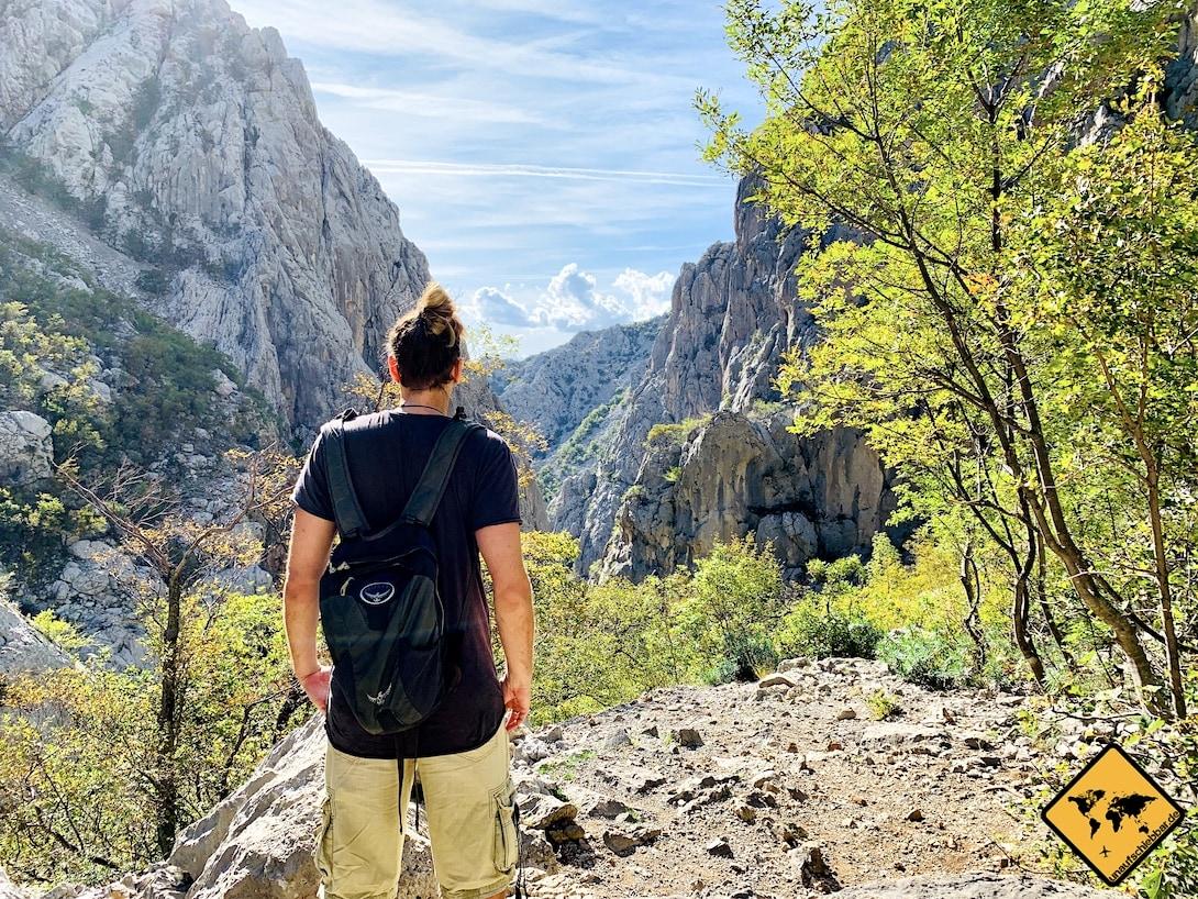 Ausblick Paklenica Nationalpark