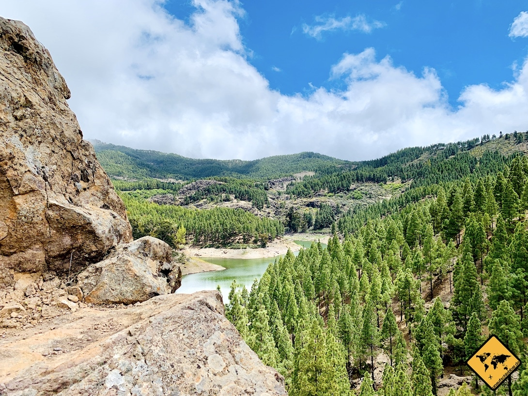 Ausblick Presa de Los Hornos Gran Canaria