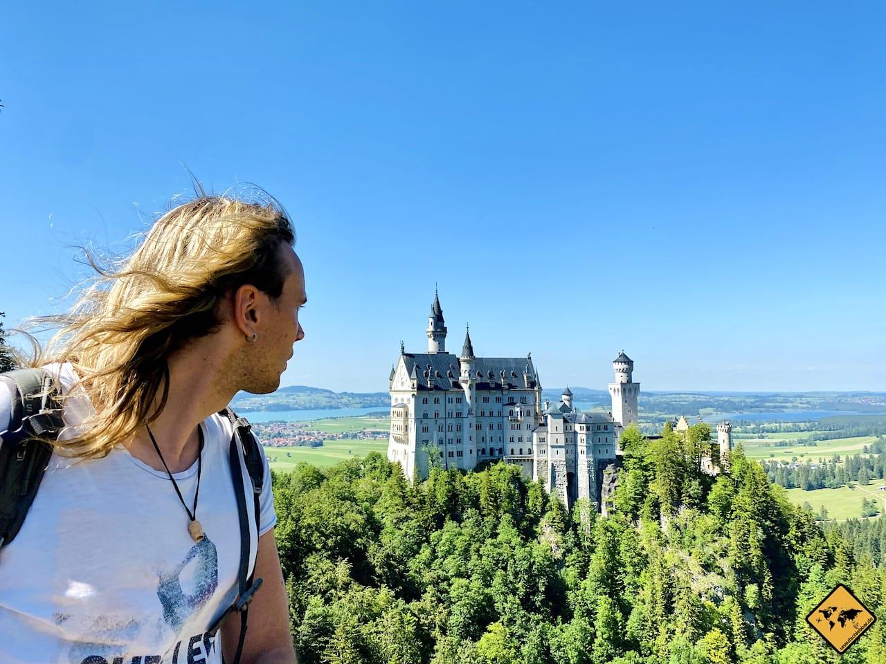 Ausblick Schloss Neuschwanstein von Marienbrücke