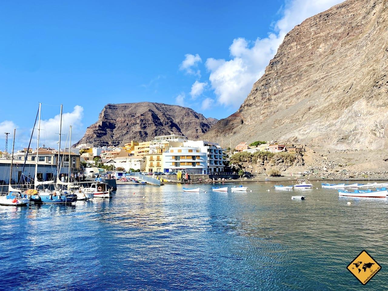 Ausblick Valle Gran Rey Hafen
