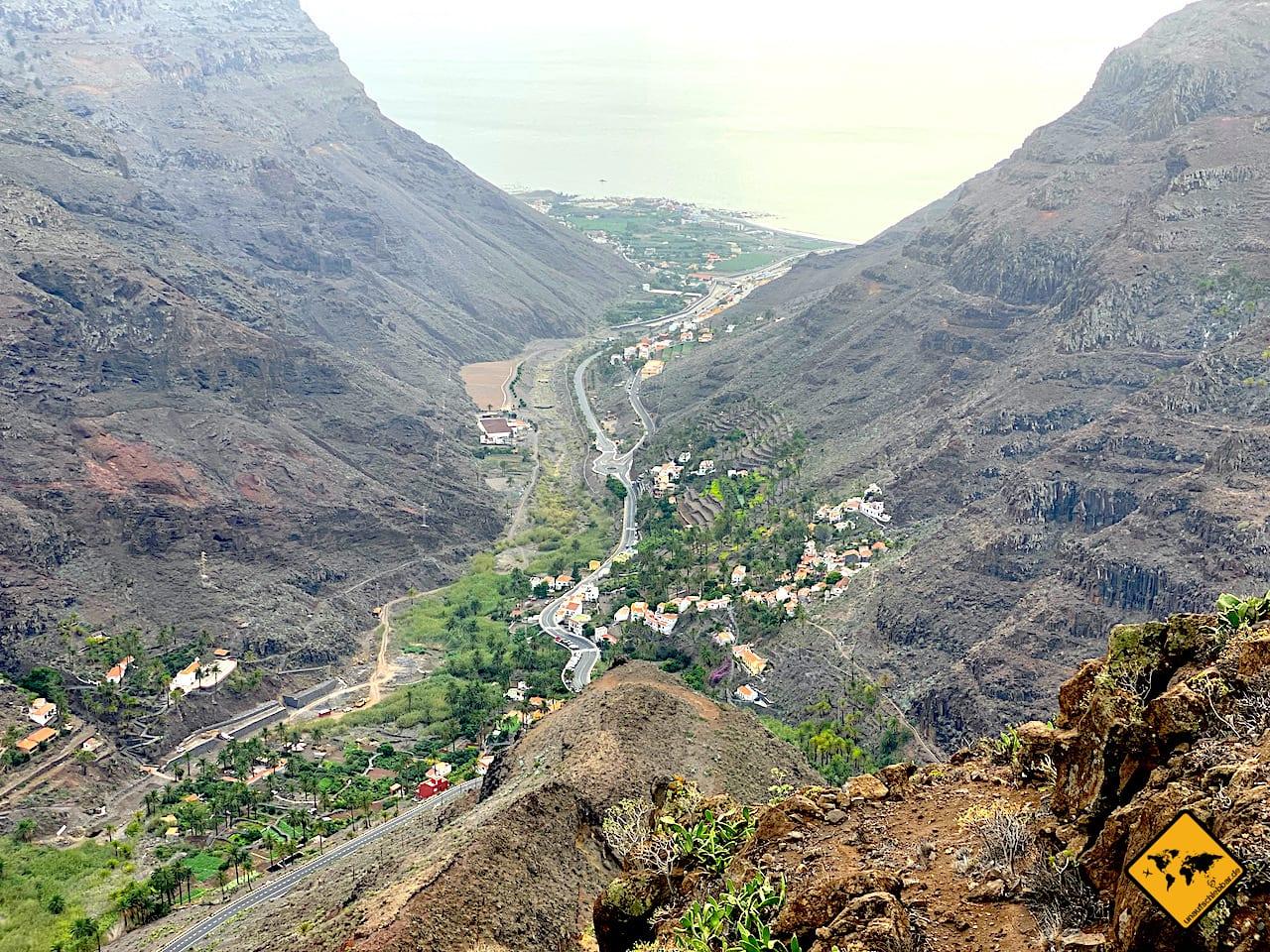 Ausblick Valle Gran Rey Mirador de la Curva del Queso