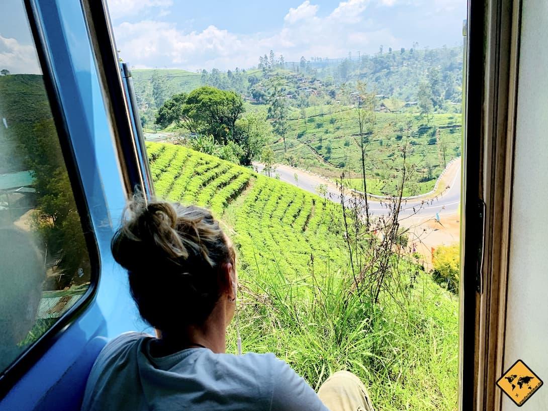 Ausblick Zugfahrt Kandy nach Ella