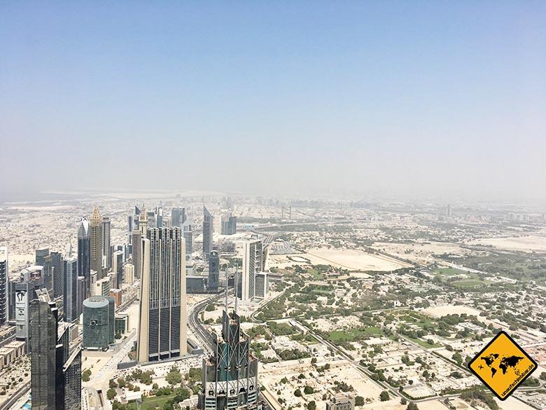 Dubai Sehenswürdigkeiten Top 10: Ausblick vom Burj Khalifa