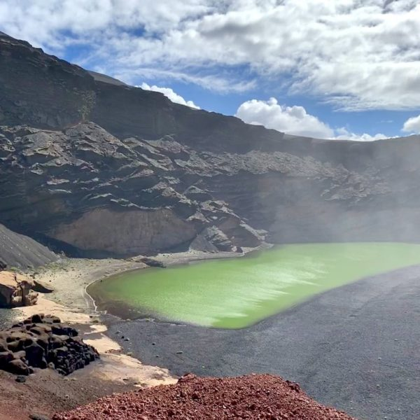 Ausflüge Lanzarote: Der Lago Verde in El Golfo