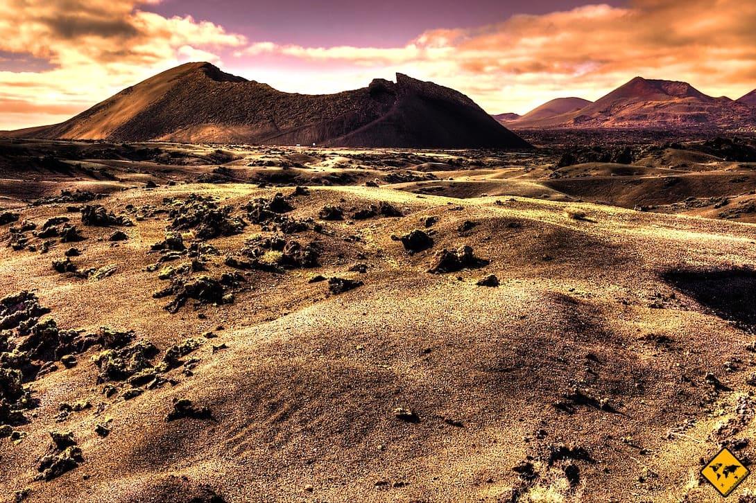 Ausflüge auf Lanzarote Timanfaya Nationalpark Feuerberge