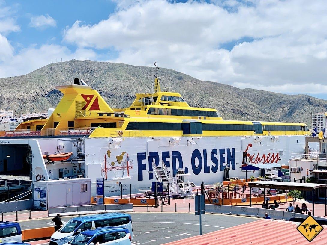 Ausflüge von Gran Canaria nach Teneriffa Fähre Fred Olsen Express