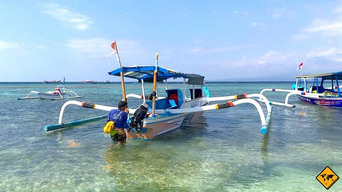 Ausflugsboot Gili Inseln
