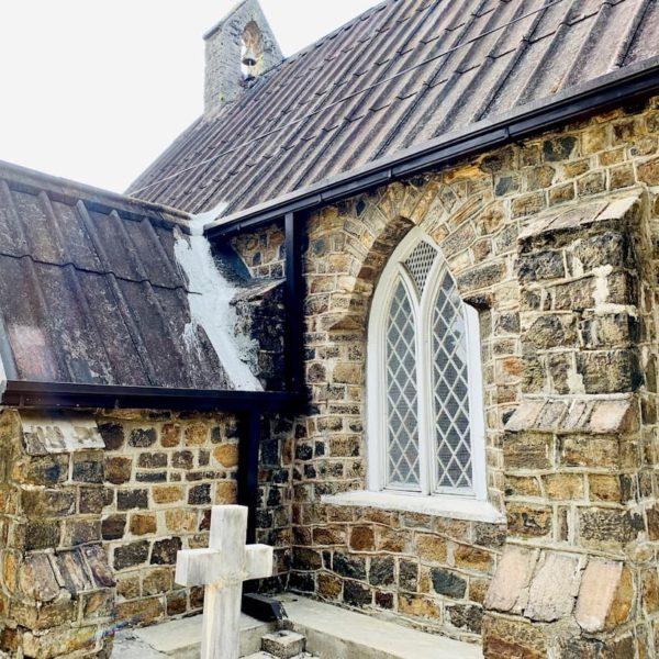 Außenmauer Christ Church Warleigh Hatton