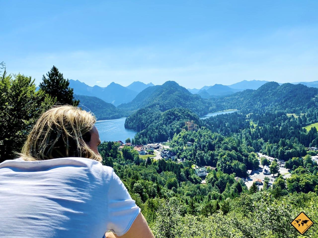 Aussicht Alpsee Wanderweg Schloss Neuschwanstein