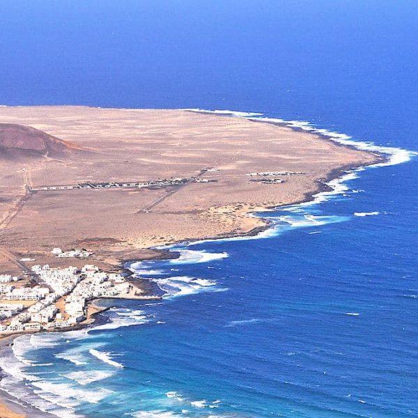 Aussicht Caleta de Famara Lanzarote