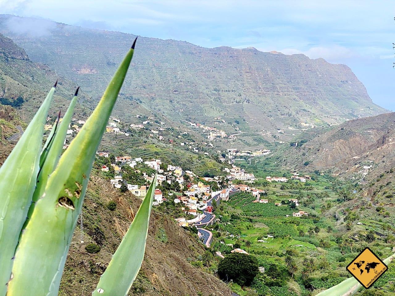Aussicht Hermigua La Gomera